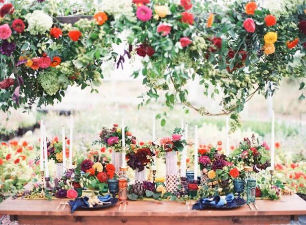 Wedding Installation | Hanging Floral Wedding Decor