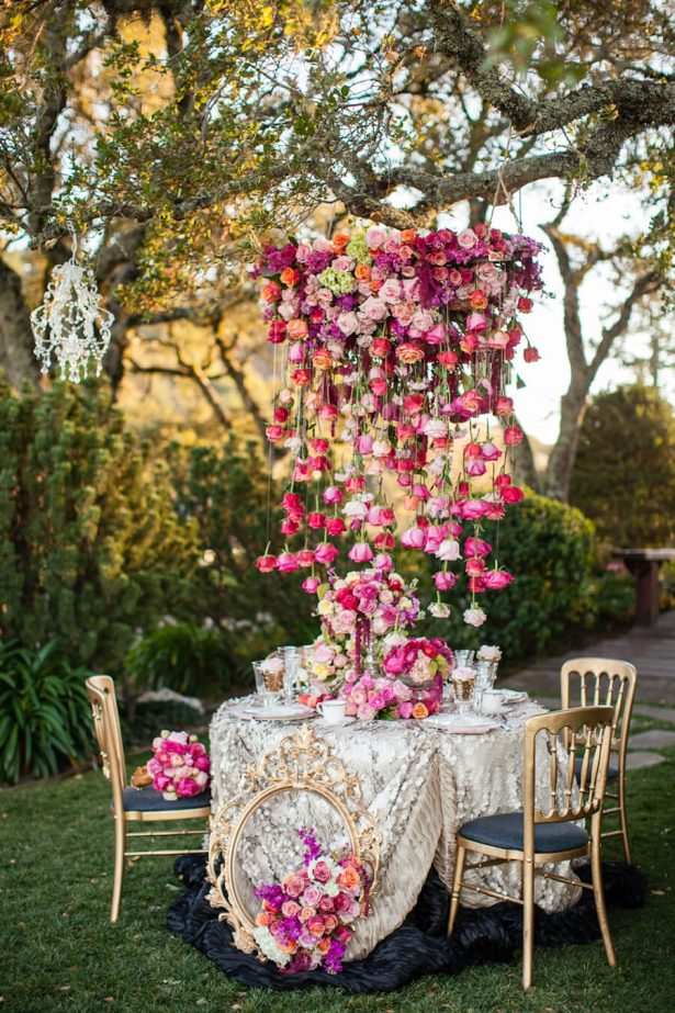 Wedding Installation | Hanging Floral Wedding Centerpiece