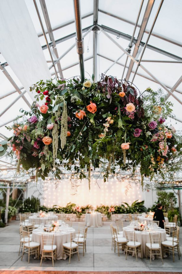 Wedding Installation | Hanging Wedding Chandelier
