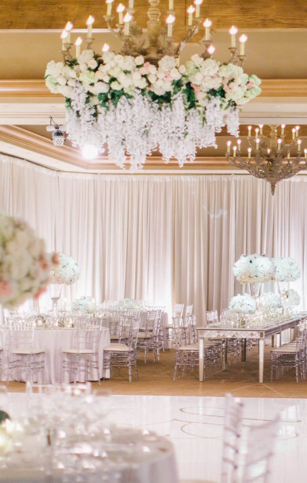Wedding Installation | Floral Chandelier
