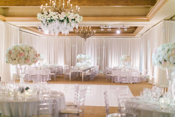 Wedding Installation | Floral Chandelier -Posh Peony - Venue- Pelican Hill - Planning- Pure Lavish Events