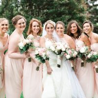 Blush Bridesmaid dresses - Lindsay Campbell Photography