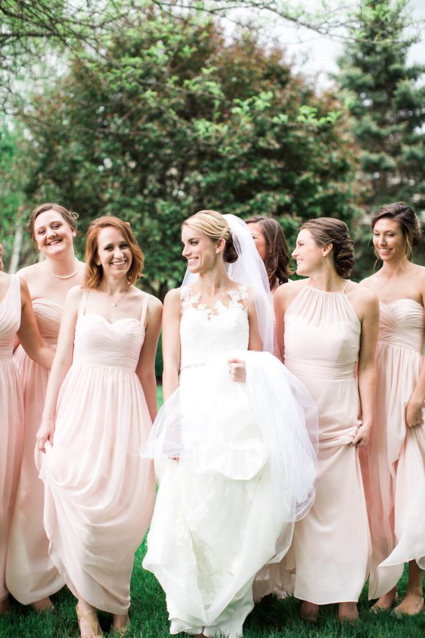 Blush Bridesmaid dresses - - Lindsay Campbell Photography