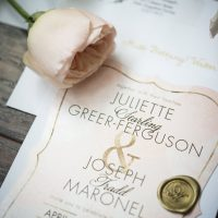 Blush Wedding Invitations - Bethany Walter Photography