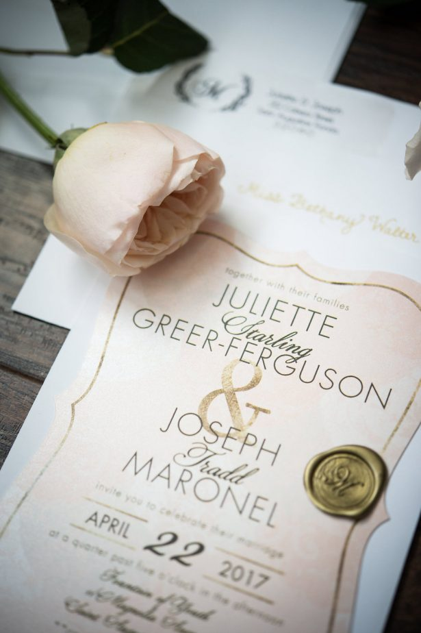 Blush Wedding with Gold Details
