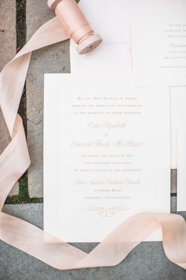 Classic Wedding Invitation - Lindsay Campbell Photography