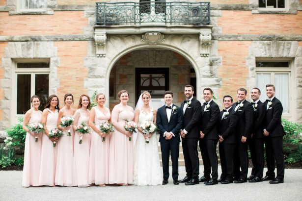 Classic Wedding Party - Lindsay Campbell Photography