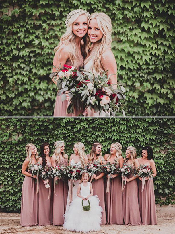 Dusty Rose Wedding Ideas - Bridesmaid Dresses - Ty French Photography