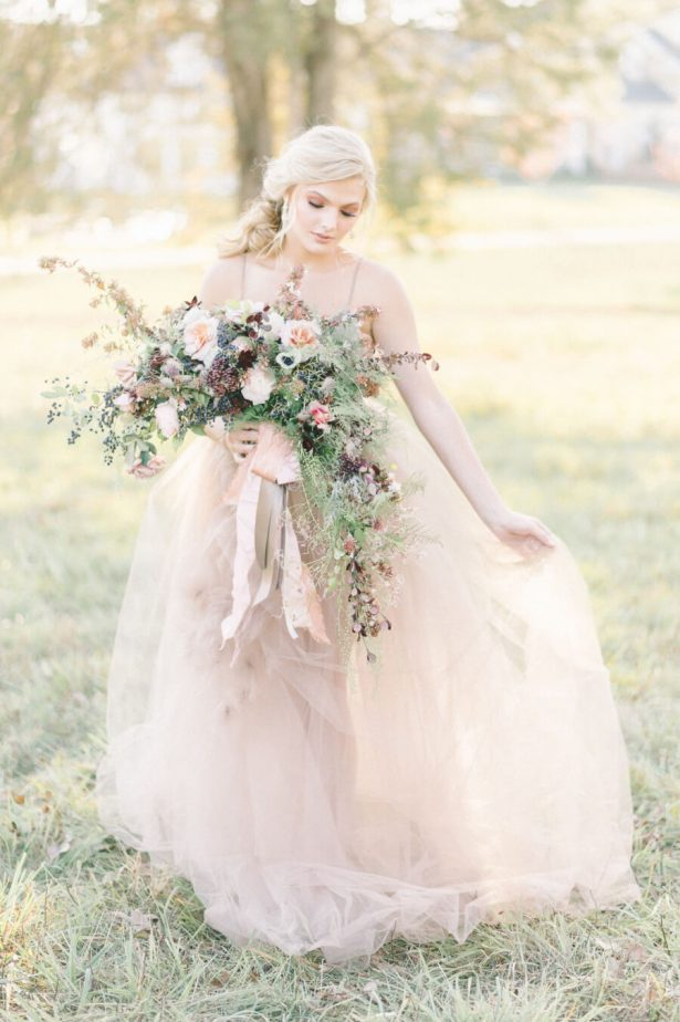 Dusty Rose Wedding Ideas - wedding dress - Erin Duffy Photography