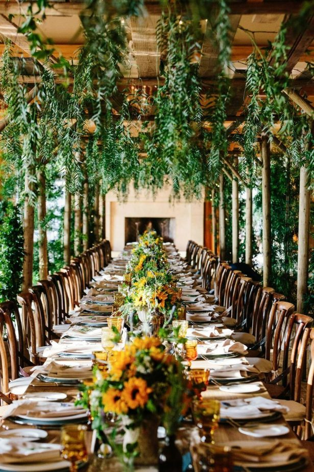 Fall Foliage Wedding Table - Archive Specialty Rentals - Dana Grant Photography - Crosby and John Design