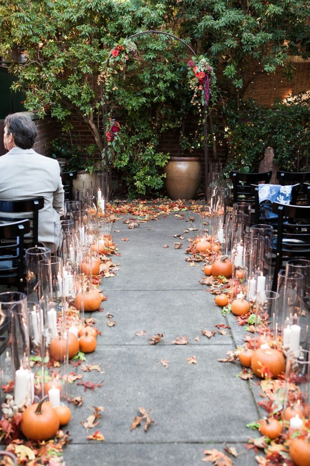 Fall Wedding Ceremony - Rebecca Ellison Photograph