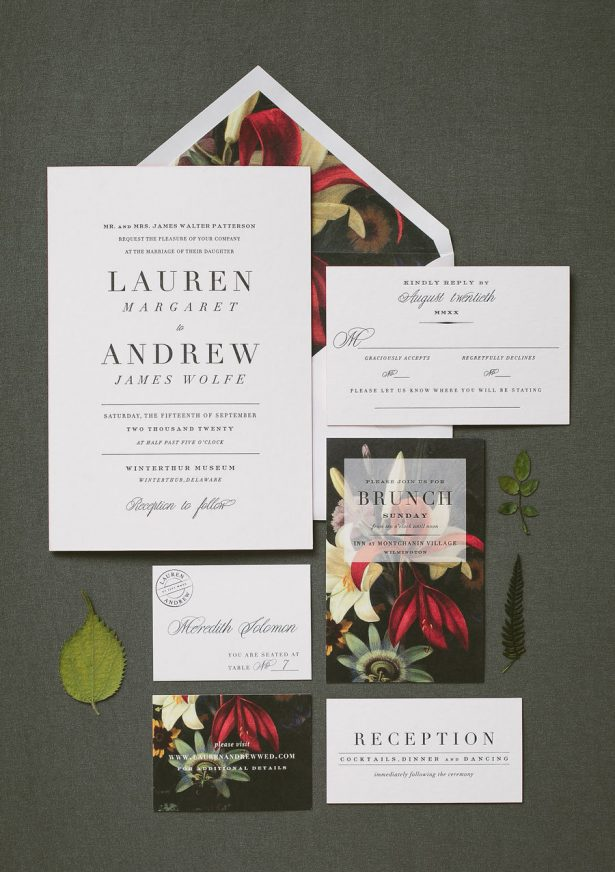 Fall Wedding Invitations - Smock Paper - Amelia Beamish Photography