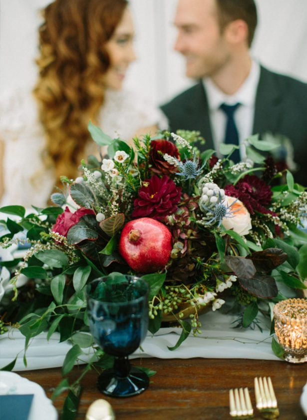 Fall Wedding - Image via Inspired By This - Ellen Ashton Photography - The Farmhouse - Rachel D Weddings - Something Goode Vintage Rentals - Pretty Little Plates - Urban Rubbish Weddings