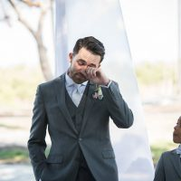 Groom crying - Bethany Walter Photography