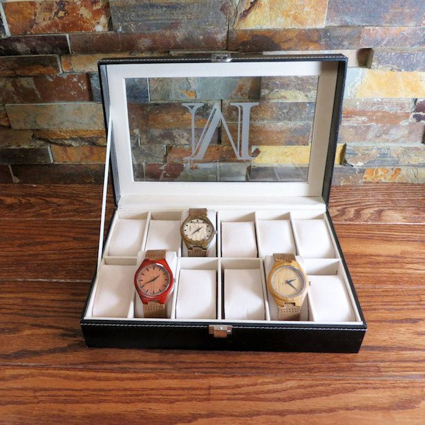 Groomsmen Gift - PERSONALIZED WATCH BOX