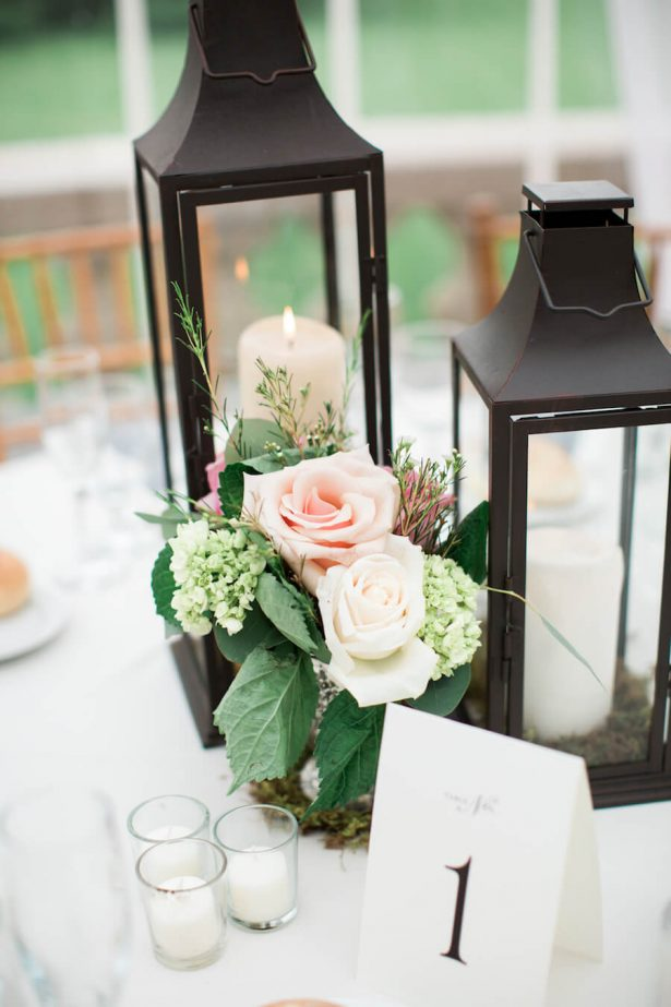 Lantern Wedding Centerpieces - Lindsay Campbell Photography