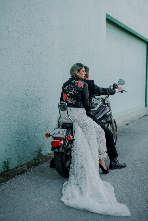 Motorcycle wedding - Lindsey Morgan Photography