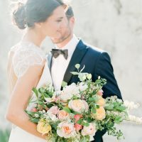 Peach Wedding Bouquet - Stella Yang Photography