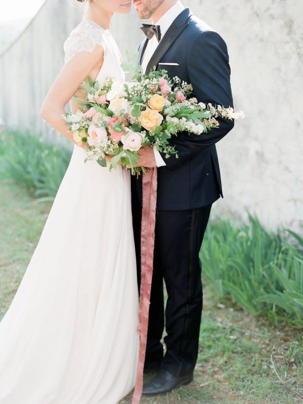 Peach and blush wedding bouquet - Stella Yang Photography