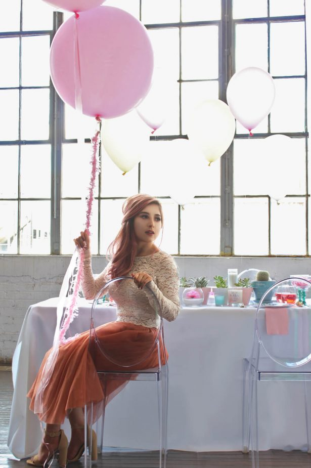 Pink balloons - bridal shower ideas - Belle The Magazine, Ur New Image, MeCupcake