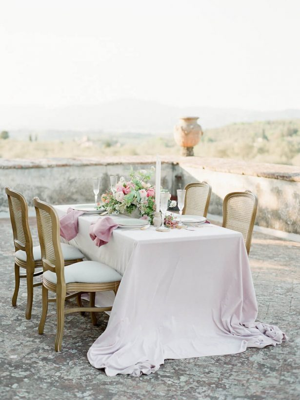 Pink outdoor wedding reception - Stella Yang Photography
