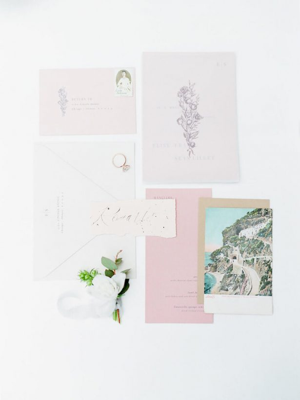 Tuscany inspired wedding invitations - Stella Yang Photography