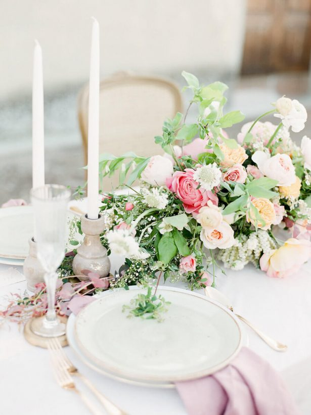 Tuscany inspired wedding tablescape - Stella Yang Photography