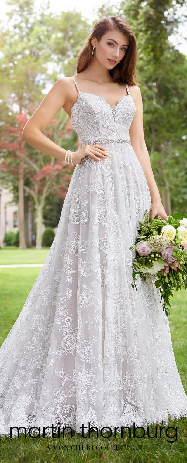 Wedding Dresses by Martin Thornburg, a Mon Cheri Collection - Spring 2018