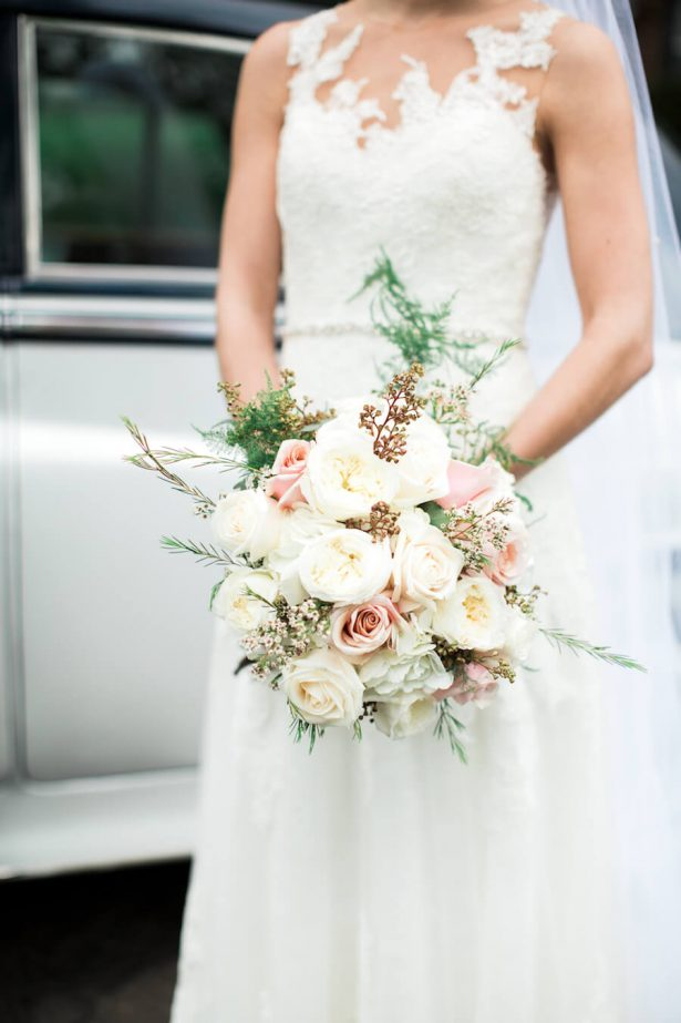 White and blush classic bouquet - Lindsay Campbell Photography