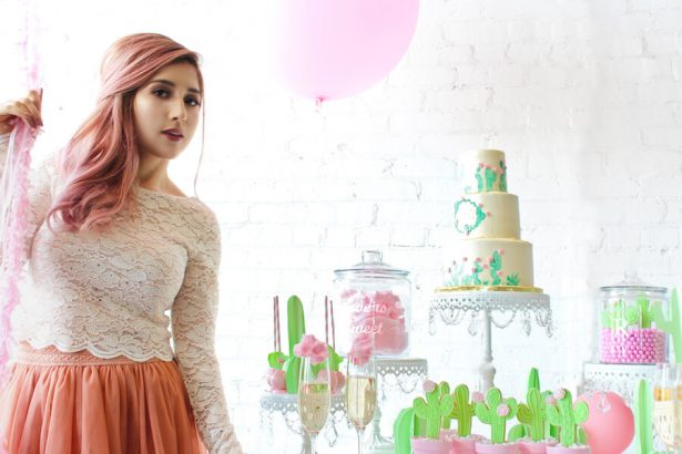 cactus and cotton candy bridal brunch party - Belle The Magazine, Ur New Image, MeCupcake