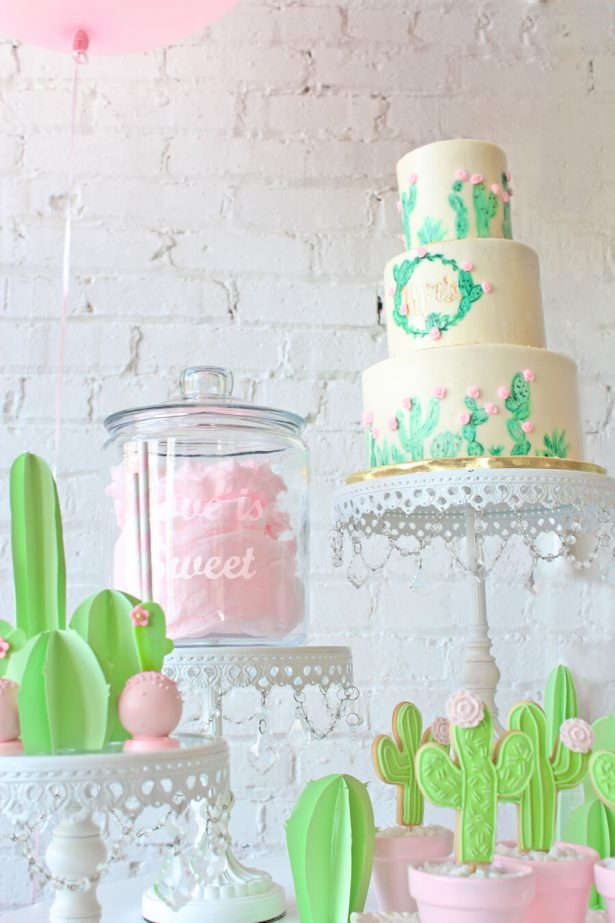 cactus and cotton candy dessert bar - Belle The Magazine, Ur New Image, MeCupcake