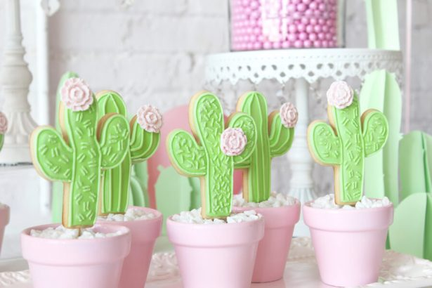 Cacti themed bridal shower - Belle The Magazine, Ur New Image, MeCupcake