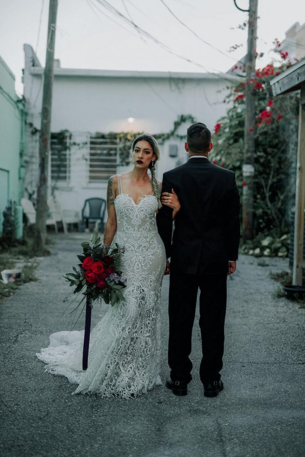 edgy bride and groom - Lindsey Morgan Photography