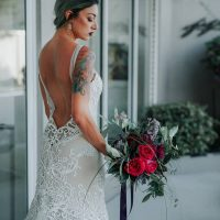 fashion forward bride - Lindsey Morgan Photography