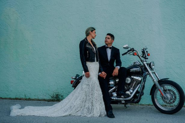 rock and roll wedding idea - Lindsey Morgan Photography