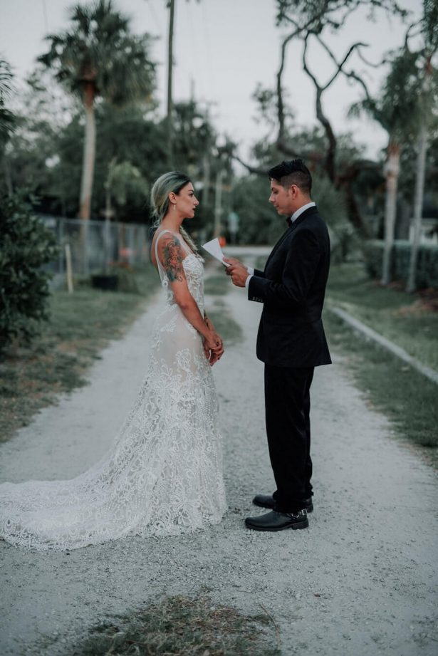 wedding vow exchange - Lindsey Morgan Photography