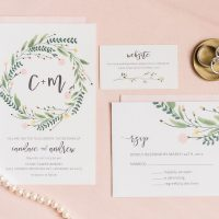 Blush Wedding Invitations - Alicia Lacey Photography