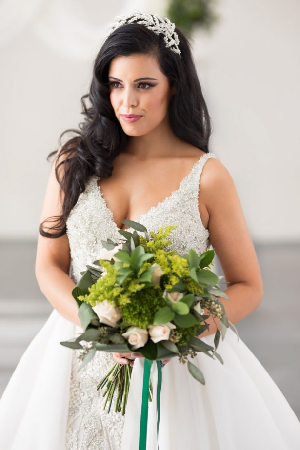 Greenery Wedding Bouquet - Tom Wang Photography