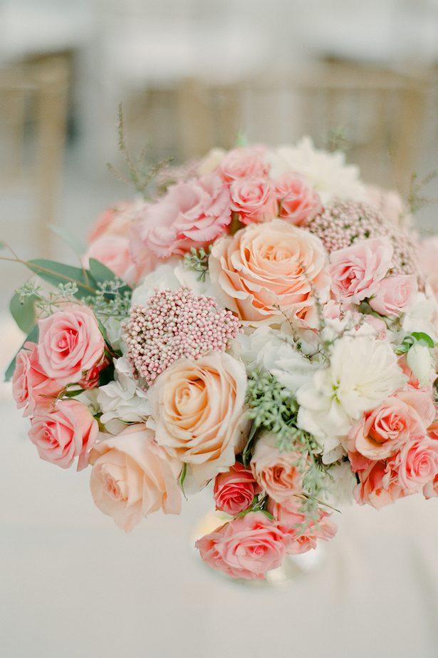 Coral Wedding Centerpiece - Brklyn View Photography