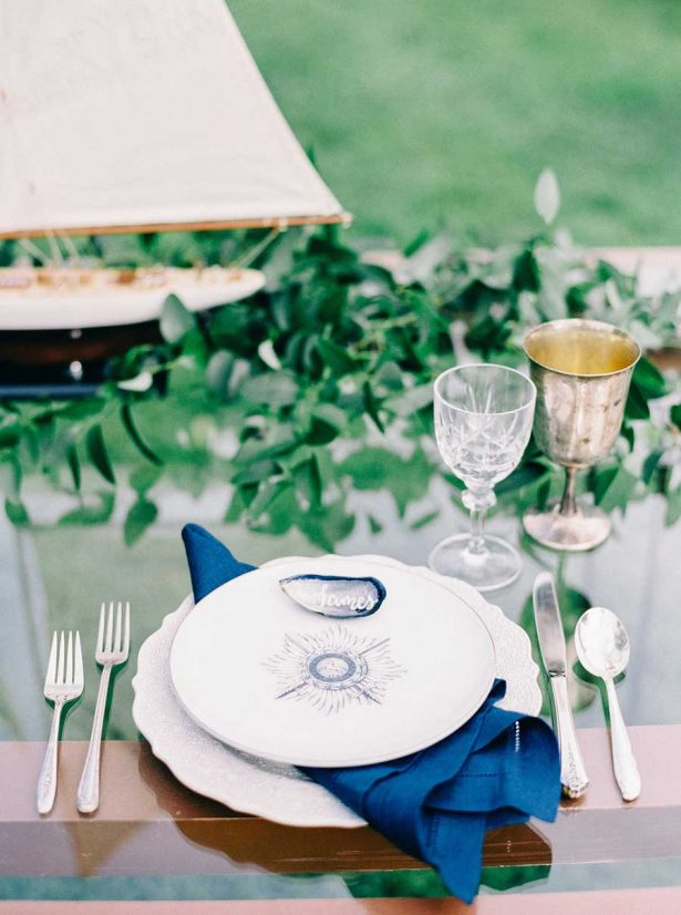 Davids Bridal Wedding Coastal Place Setting - Nikki Santerre Photographer