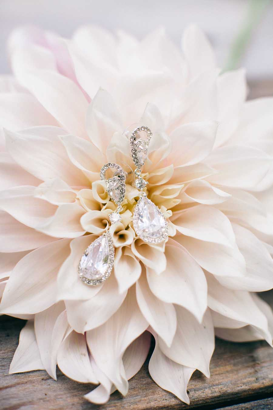 Davids Bridal Wedding Earrings - Nikki Santerre Photographer