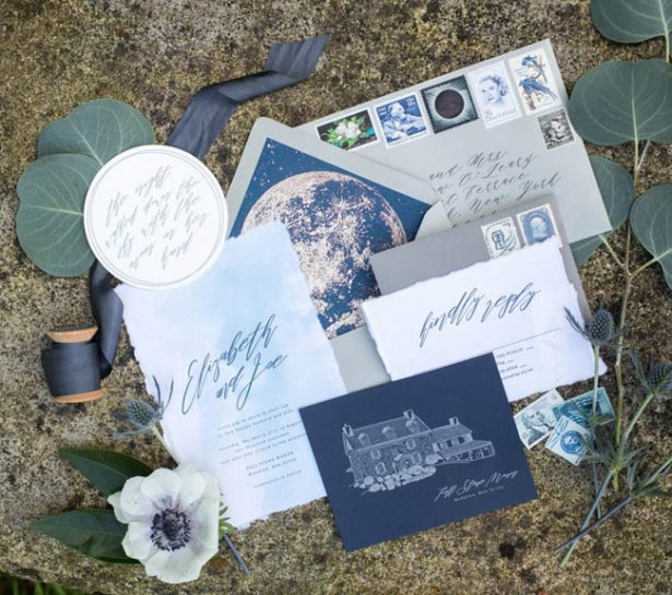 Eclipse Inspired Wedding Invitation - Images by Berit