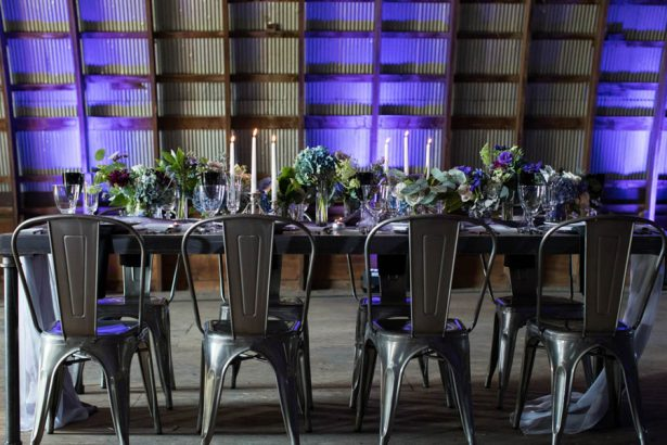 Eclipse Inspired Wedding Tablescape - Images by Berit