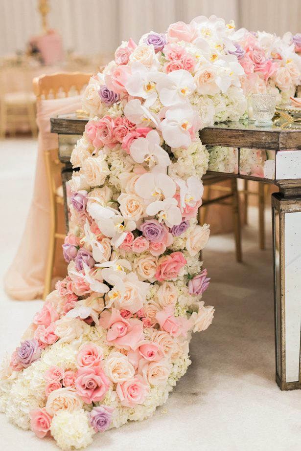 Garland Wedding Centerpiece - Luna De Mar Photography
