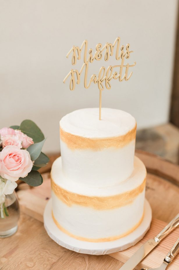 Gold Wedding Cake - Alicia Lacey Photography