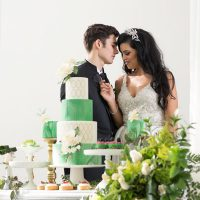 Greenery Wedding Inspiration Bride and Groom - Tom Wang Photography