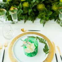Greenery Wedding Plate Setting - Tom Wang Photography