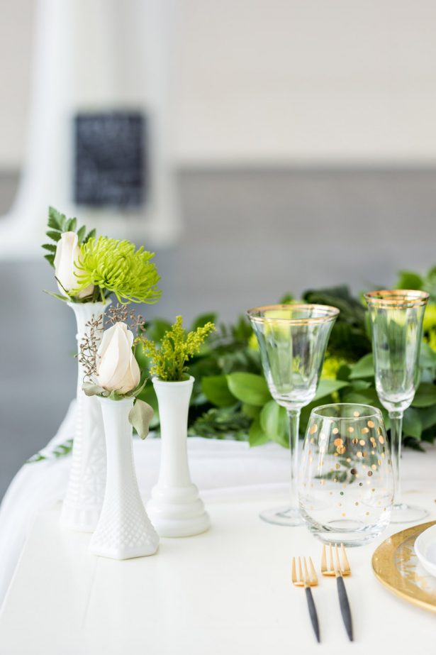 Greenery Wedding Tablescape  – Tom Wang Photography