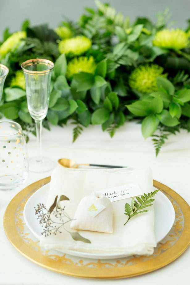 Greenery Wedding Tablescape Favors – Tom Wang Photography
