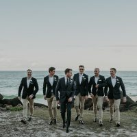 Groomsmen Seaside Wedding Photo - - Lucas & Co Photography
